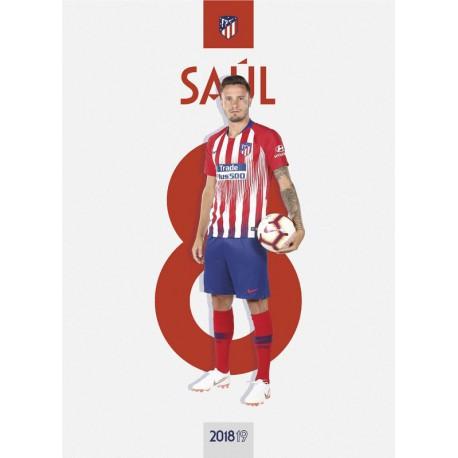 Postal Atletico De Madrid 2018/2019 Saul