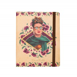 Notebook Premium A5 Spine Wire-O Frida Kahlo Glasses