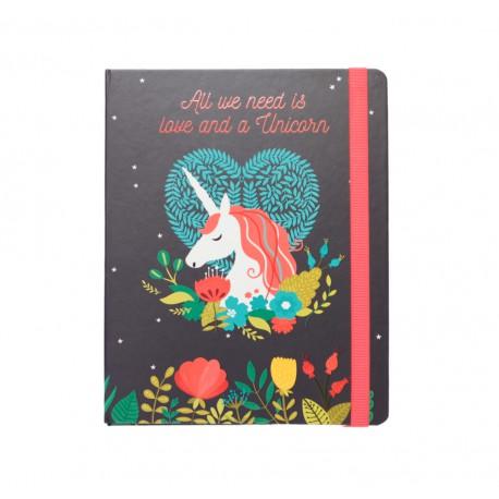Notebook Premium A5 Spine Wire-O Unicorn