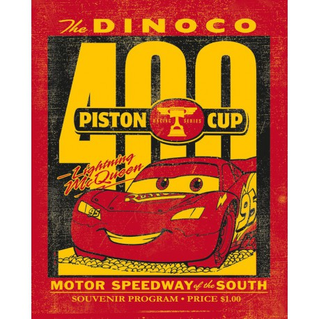 Canvas 20X25 Cm Disney Cars Piston Cup
