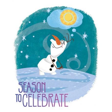 Canvas 20X25 Cm Disney Frozen Olaf
