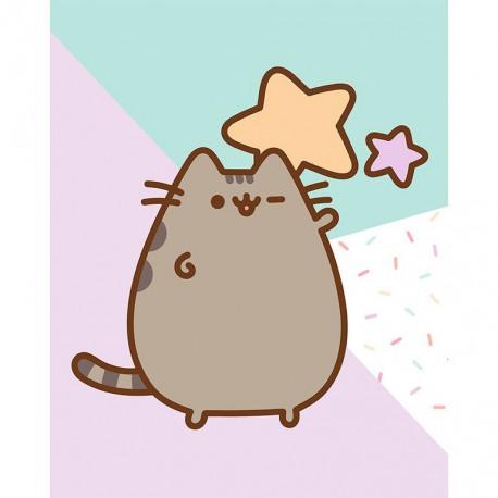 Canvas 20X25 Cm Pusheen The Cat Stars