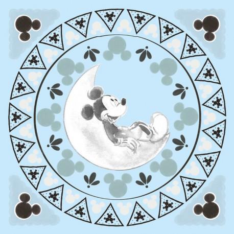 Canvas 30X30 Cm Disney Mickey Moon