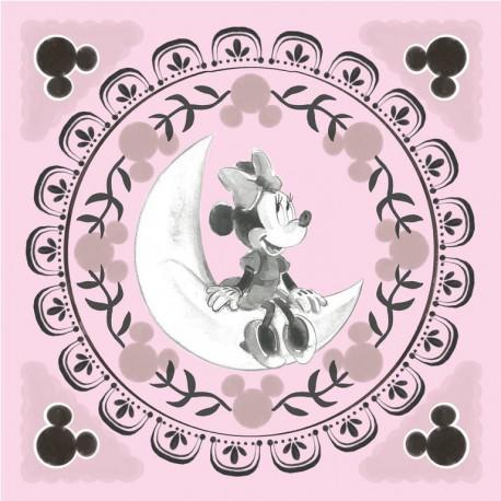 Canvas 30X30 Cm Disney Minnie Moon
