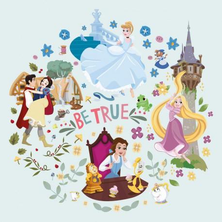 Canvas 30X30 Cm Disney Princess Be True