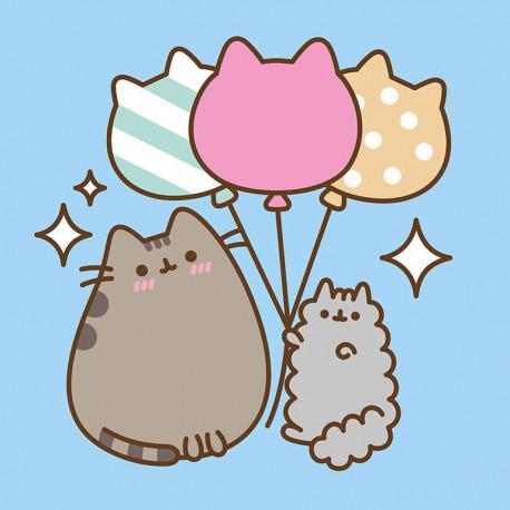 Canvas 30X30 Cm Pusheen The Cat Balloons