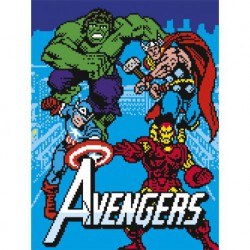 Canvas 30X40 Cm Marvel Avengers 8 Bits