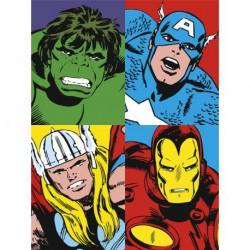 Canvas 30X40 Cm Marvel Four Heroes