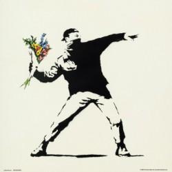 Lámina 30X30 Cm Banksy Flower Bomber