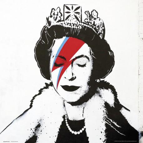 Lámina 30X30 Cm Banksy Queen Bowie