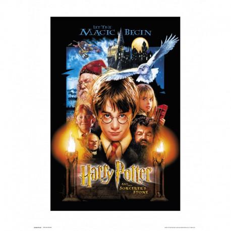 Lámina 30X40 Cm Harry Potter And The Sorcerer'S Stone
