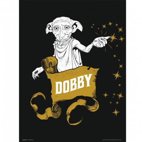 Lámina 30X40 Cm Harry Potter Dobby
