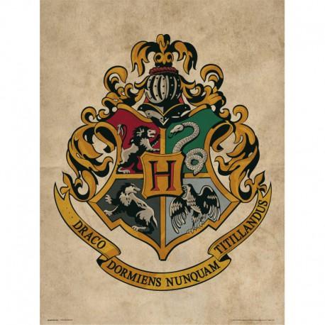 Lámina 30X40 Cm Harry Potter Hogwarts Crest
