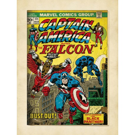 Lámina 30X40 Cm Marvel Comics Captain America
