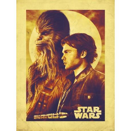 Lámina 30X40 Star Wars Solo Han & Chewie