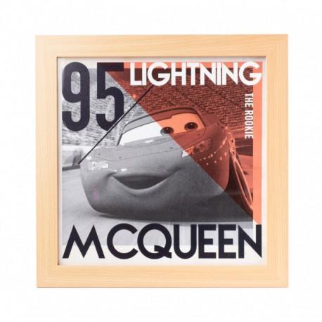 Lámina Enmarcada 30X30 Cm Disney Cars Lightning Mcqueen