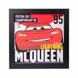 Lámina Enmarcada 30X30 Cm Disney Cars Piston Cup