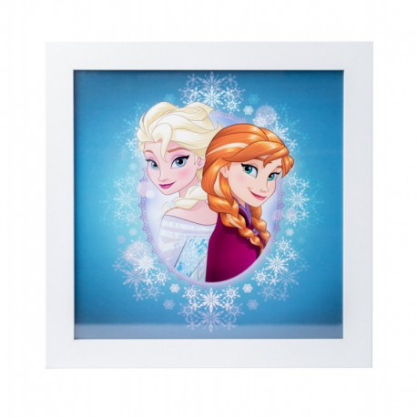 Lámina Enmarcada 30X30 Cm Disney Frozen Anna & Elsa