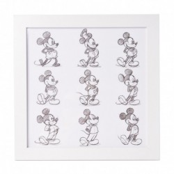 Lámina Enmarcada 30X30 Cm Disney Mickey Sketch