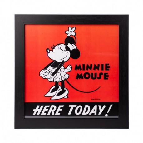 Lámina Enmarcada 30X30 Cm Disney Minnie 90