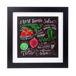 Lámina Enmarcada 30X30 Cm Lily & Val Fresh Tomato Salsa
