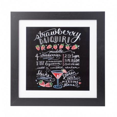 Lámina Enmarcada 30X30 Cm Lily & Val Strawberry Daikiri