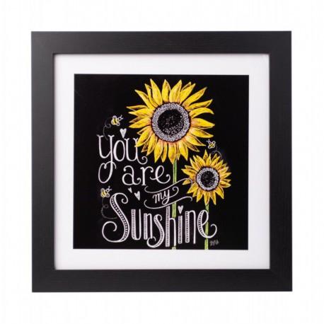 Lámina Enmarcada 30X30 Cm Lily & Val You Are My Sunshine