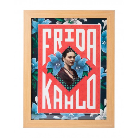Lámina Enmarcada 30X40 Cm Frida Kahlo