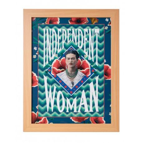 Lámina Enmarcada 30X40 Cm Frida Kahlo Independent Woman