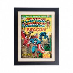 Lámina Enmarcada 30X40 Cm Marvel Comics Captain America