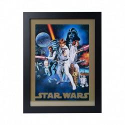 Lámina Enmarcada 30X40 Cm Star Wars A New Hope
