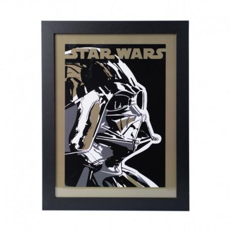 Lámina Enmarcada 30X40 Cm Star Wars Darth Vader