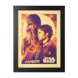 Lámina Enmarcada 30X40 Cm Star Wars Solo Han & Chewie