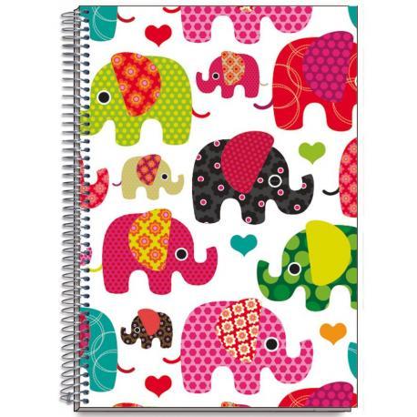 Cuaderno Tapa Dura A6 Elephants