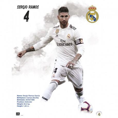 Mini Poster Real Madrid 2018/2019 Sergio Ramos