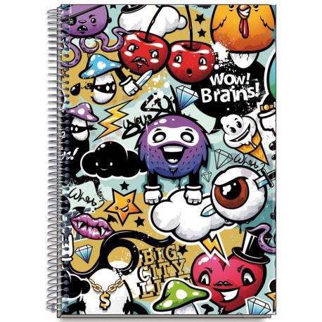 Cuaderno Tapa Dura A4 Brains