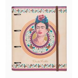 Carpeta 4 Anillas Troquelada Premium Frida Kahlo