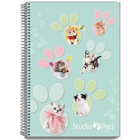 Cuaderno Tapa Dura A4 Myrna Gatos
