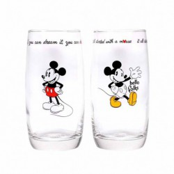 Vaso Set De 2 Disney Mickey Mouse