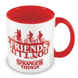 Taza Color Interno Stranger Things Friends Don'T Lie