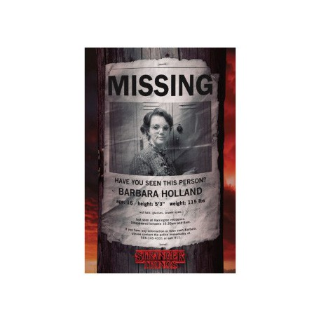 Poster Stranger Things Barb Missing