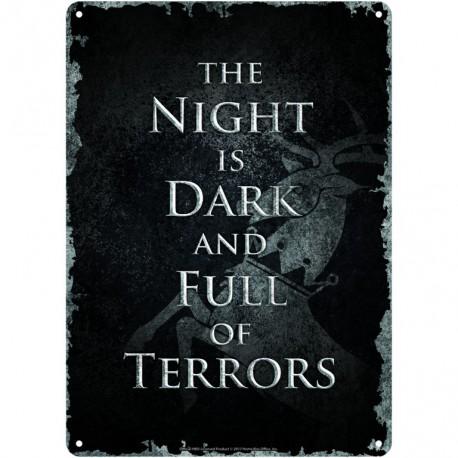 Chapa Metalica Game Of Thrones Night Is Dark