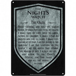 Chapa Metalica Game Of Thrones Nights Watch