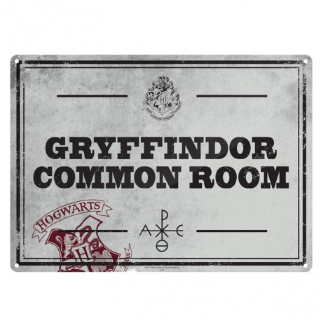 Chapa Metalica Harry Potter Common Room