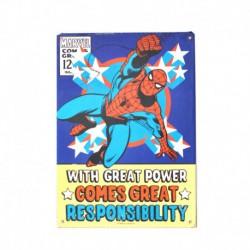 Chapa Metalica Marvel Spiderman