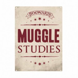 Chapa Metalica Pequeña Harry Potter Muggle Studies