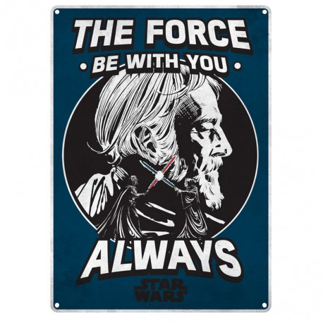 Chapa Metalica Star Wars The Force