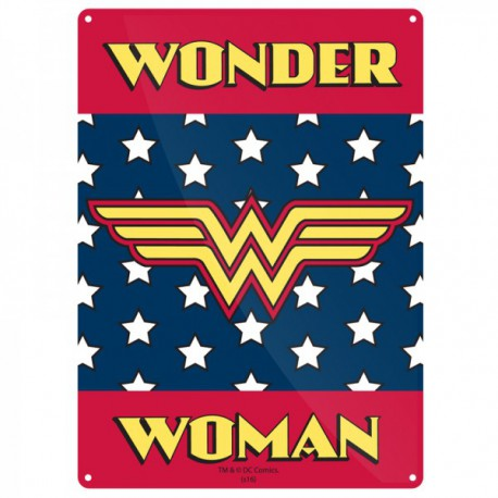 Chapa Metalica Wonder Woman Logo