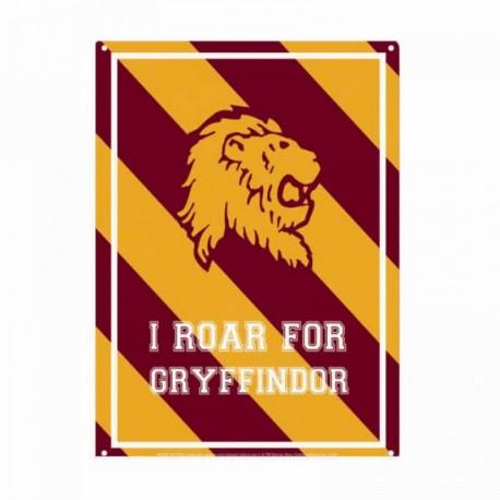 Chapa Metalica Harry Potter Roar Gryffindor