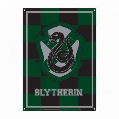 Chapa Metalica Harry Potter Slytherin